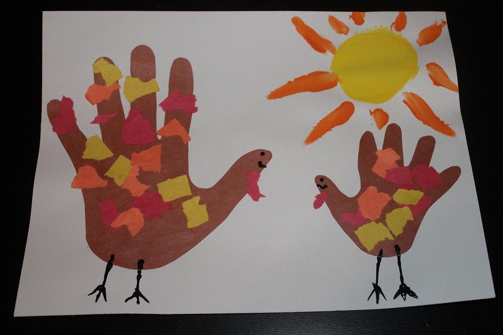 Thanksgiving Handprint Turkey Art