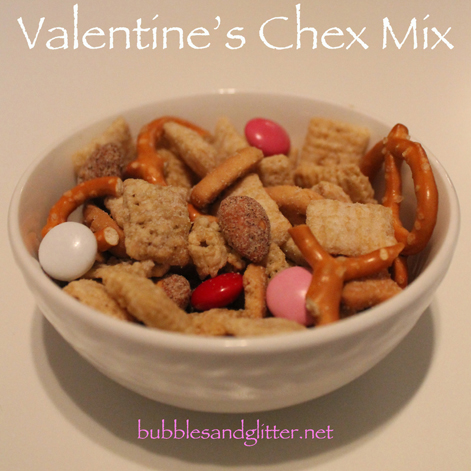 Super Simple Valentine's Chex Mix