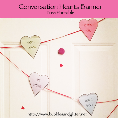 Conversation Hearts Garland – FREE Printable!!
