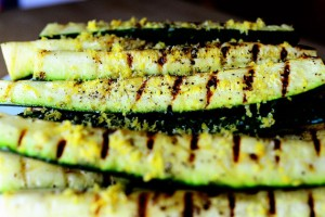 Lemony Grilled Zucchini