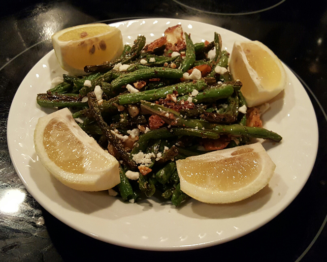 Lemon Feta Green Beans | Bubbles and Glitter