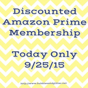 Discounted Amazon Prime Membership | Bubbles and Glitter