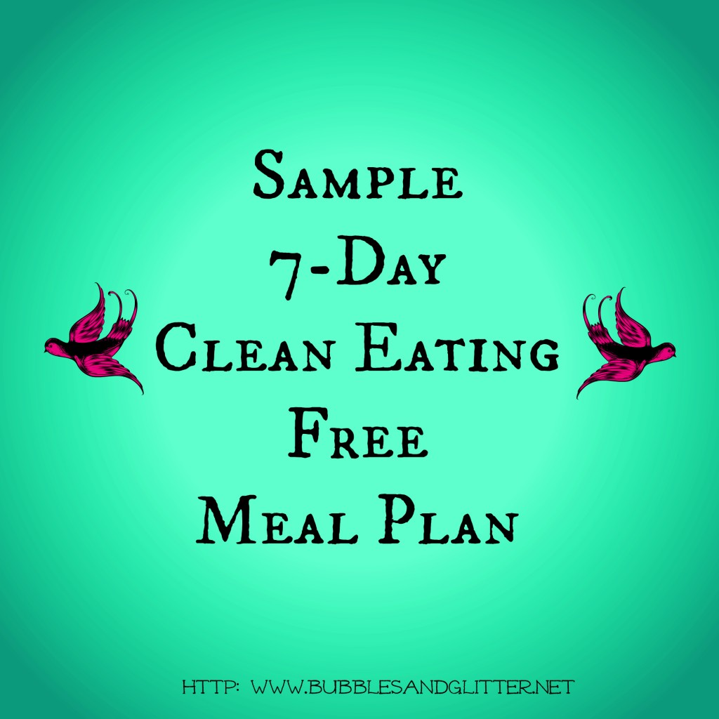 Clean Eating 21 Day Fix Sample Meal Plan Menu